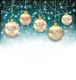 Beautiful Celebration Card with Christmas Balls Stock Image