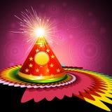 Beautiful celebration colorful diwali cracker background. Illustration Royalty Free Stock Images