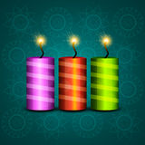 Beautiful celebration colorful diwali crackers backgrou Royalty Free Stock Photography