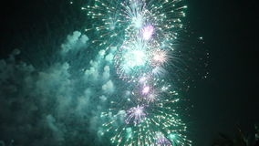 Beautiful celebration fireworks. stock footage
