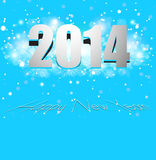 Beautiful celebration Happy New Year 2014 card col Royalty Free Stock Photo