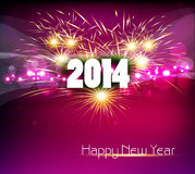 Beautiful celebration Happy new Year 2014. Colorful Vector Illustration