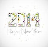 Beautiful celebration Happy new Year 2014 illustra Royalty Free Stock Photo