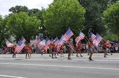 Washington DC, 4th July: People Celebrating the Independence Day of The United States of America