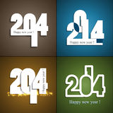 Beautiful celebration new year set colorful backgr. Ound vector illustration