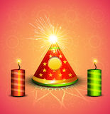 Beautiful celebration stylish shiny diwali crackers Stock Photos
