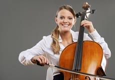 Beautiful cellist Royalty Free Stock Photos