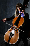 Beautiful cello musician Stock Image