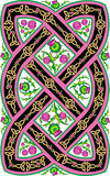 Beautiful Celtic pattern with flowers thistle Stock Photo