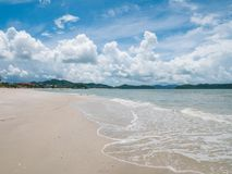 Beautiful Cenang Beach Coastline in Langkawi, Malaysia. Beautiful of Cenang Beach Coastline in Langkawi, Malaysia Royalty Free Stock Photo