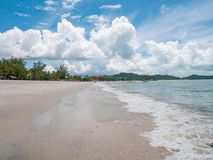 Cenang Beach Coastline in Langkawi, Malaysia. Beautiful Cenang Beach Coastline in Langkawi, Malaysia Royalty Free Stock Photography