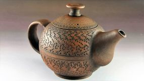 Beautiful ceramic tea-pot Royalty Free Stock Image