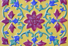 Beautiful ceramic in Thai floral style Stock Photo