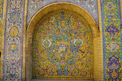 Beautiful ceramic tile wall of Golestan Palace, Iran. Stock Image