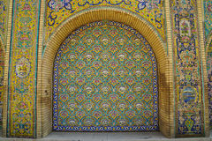 Beautiful ceramic tile wall of Golestan Palace, Iran. Royalty Free Stock Image