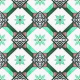 Beautiful ceramic tiles patterns  In the park public. Stock Photos