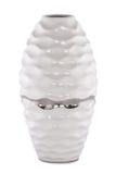 Beautiful ceramic vase on white background Royalty Free Stock Photography