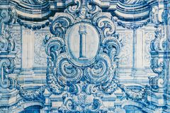 Beautiful Ceramic Wall Texture Pattern Or Azulejos In Lisbon Stock Photos