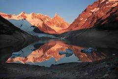 Beautiful Cerro tore. Cerro and laguna Tore in Patagonia royalty free stock images