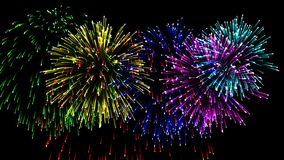 Free Beautiful Cg Fireworks In Celebration Day, Alpha Stock Photos - 106726593