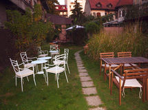 Beautiful chairs in a garden Royalty Free Stock Photo