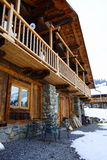 Beautiful chalet in the alps. Rustic and beautiful chalet in the french alps Stock Image
