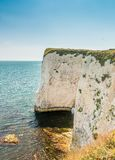 Beautiful chalk formation Old Harry Rocks in Dorset near Swanage Stock Photography
