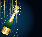 Beautiful champagne bottle. Royalty Free Stock Photo