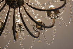 A beautiful chandelier in the Clocks museum. A beautiful chandelier in the Clocks museum in Lithuania Stock Photography