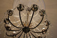 A beautiful chandelier in the Clocks museum. Royalty Free Stock Photos