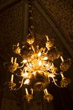 Beautiful chandelier at dom kyrkan royalty free stock images