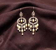 Beautiful chandelier earrings Stock Images