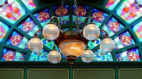 Beautiful chandelier stock photography