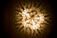 Beautiful chandelier hanging in a room Royalty Free Stock Photos