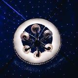 A Beautiful Chandelier. Light in dark night Royalty Free Stock Photo