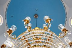 Beautiful chandelier in the Mosque Royalty Free Stock Image