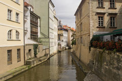 The beautiful channel of Prague Stock Photography