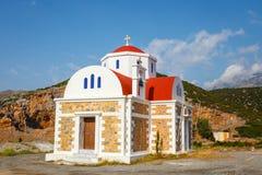 Beautiful chapel on the coast, Crete, Greece Royalty Free Stock Photos