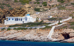 Beautiful chapel in Sifnos island, Greece Royalty Free Stock Photo