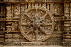 Beautiful chariot Wheel, Konark Sun Temple, Orissa Stock Photos
