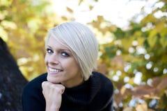 Beautiful charming blond woman Stock Photo
