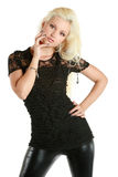 Beautiful, charming blonde girl Stock Photography
