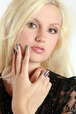 Beautiful, charming blonde girl Stock Images