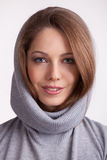 Beautiful charming girl in a wool sweater Royalty Free Stock Photo