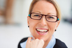 Beautiful charming lady smiling gracefully Royalty Free Stock Photography