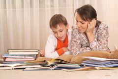 Beautiful charming mother with her son Stock Photography