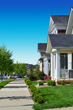 Beautiful and Charming Neighborhood Stock Photos