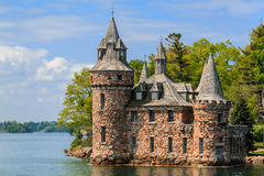 Beautiful charming old vintage Castle cold house on the lake Stock Photography