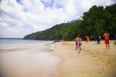 Beautiful and charmin beach in Unawatuna Stock Photos