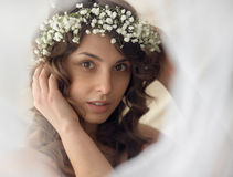 Beautiful charming tender girl portrait Royalty Free Stock Images
